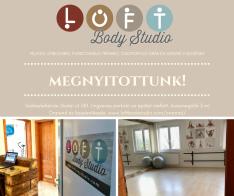 2017. november 06-án megnyitott a LOFT Body Mozgásstúdió