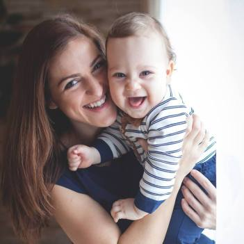 Vera és kisfia , Barni :)